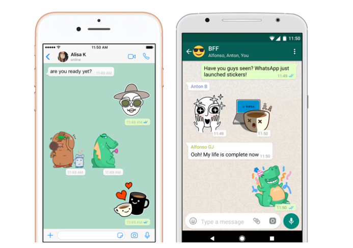 WhatsApp Brings The New Feature Stickers Sending