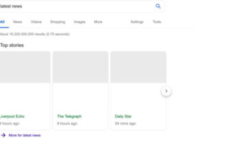 Google Testing News Results With No Snippets
