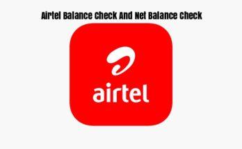 Airtel Balance Check And Net Balance Check