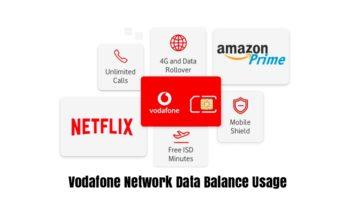 Vodafone Network Data Balance Usage