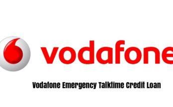 Vodafone Emergency Talktime Credit Loan