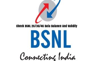 Check BSNL 2G/3G/4G Data Balance And Validity