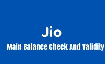 Jio Main Balance Check And Validity