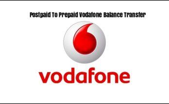 Postpaid To Prepaid Vodafone Balance Transfer