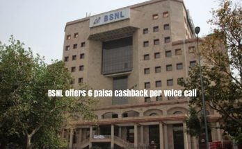 BSNL offers 6 paisa cashback per voice call