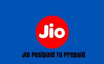 Convert Jio Postpaid Sim To Prepaid