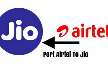 Port Airtel To Jio Mobile Number