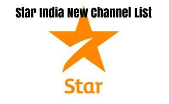Star India New Channel List