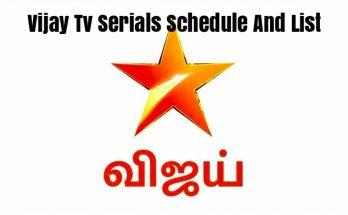 Vijay TV Serials Schedule And List