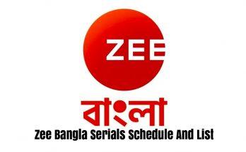 Zee Bangla Serials Schedule And List