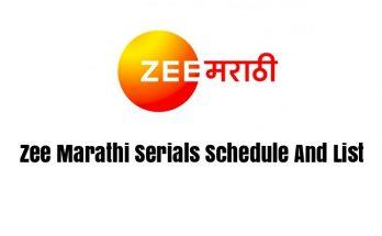 Zee Marathi Serials Schedule And List