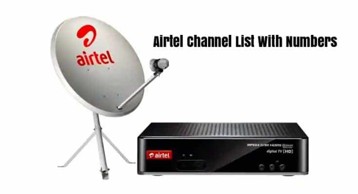 Airtel Channel List With Numbers